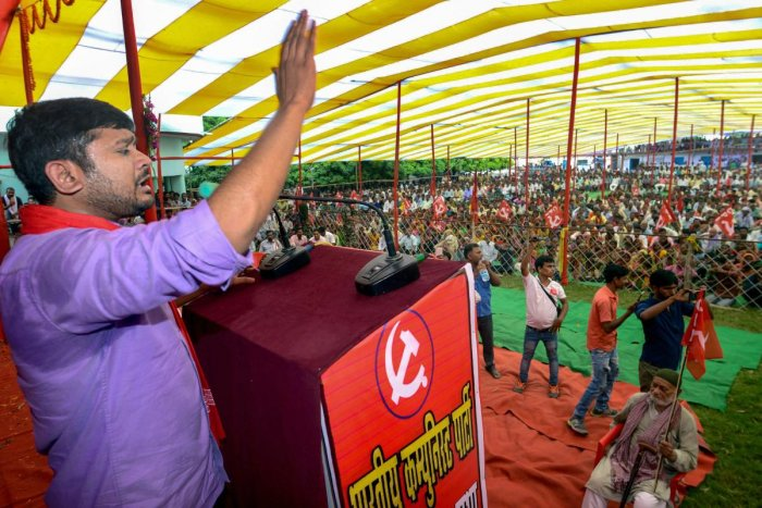 Former JNU President Kanhaiya Kumar and CPI leader addresses a public rally, in Motihari, Tuesday, Oct 9, 2018. (PTI File Photo)