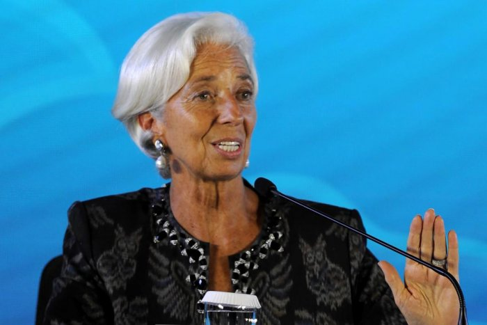 """""""The Managing Director's previously scheduled trip to the Middle East region is being deferred,"""" an IMF spokesman said in a statement, without further explanation. (AFP File Photo)"""