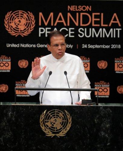 Sri Lanka president Maithripala Sirisena. REUTERS file photo.