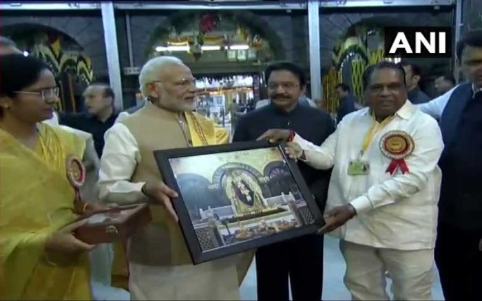The prime minister said that in Shirdi, one gets to witness the spirit of equality of all religions and people from all faiths bow before Saibaba. (Image: ANI/Twitter)