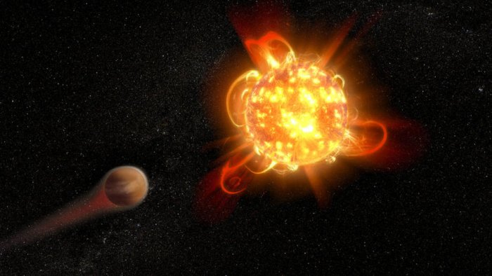 The flares are believed to be powered by intense magnetic fields that get tangled by the roiling motions of the stellar atmosphere. (Image for representation)