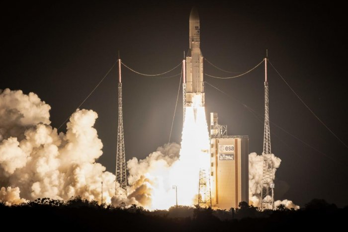 The European Space Agency and the Japan Aerospace Exploration Agency said the unmanned BepiColombo spacecraft successfully separated and was sent into orbit from French Guiana as planned to begin a seven-year journey to Mercury. (AFP File Photo)