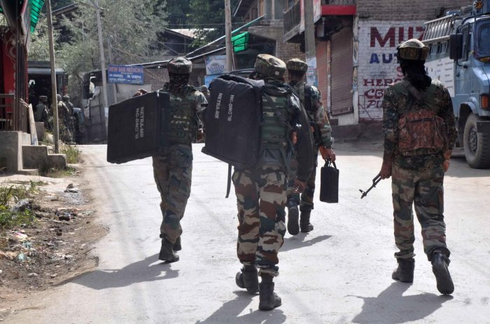 A cordon and search operation was launched in the Laroo area in south Kashmir this morning following specific information about the presence of militants in the area, a police official said. (DH File Photo)