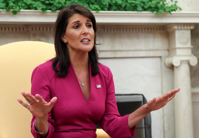 Outgoing U.S. Ambassador to the United Nations Nikki Haley. Reuters file photo