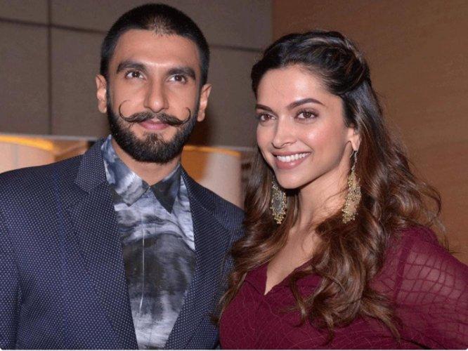 Actors Deepika Padukone and Ranveer Singh. File photo