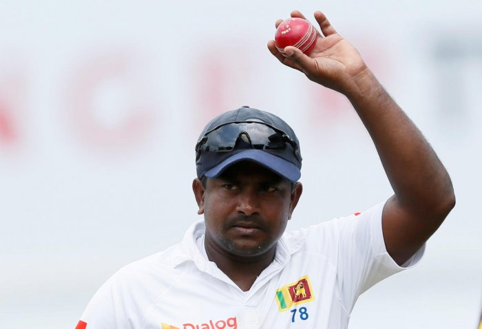 BIDDING GOODBYE: Sri Lanka's Rangana Herath will call it quits from Test cricket after the first match against England in Galle next month. Reuters File Photo.