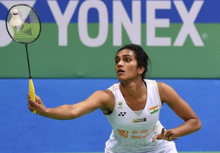 India's P V Sindhu moved to the second round after beating Beiwen Zhang of Singapore at the French Open on Tuesday. FILE PHOTO