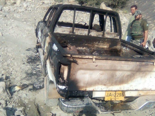 hey were shot by unidentified armed men and left to die in a vehicle which was also set on fire. PHOTO: EXPRESS