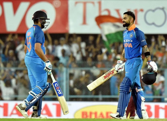 The hosts elected to bat and put up a mammoth total after riding on Kohli's 129-ball knock. (PTI Photo)