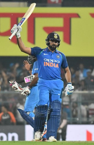Rohit Sharma has allowed his bat and a jersey to be auctioned in London recently, for protection of the famed Indian one-horned rhinos: MANASH DAS
