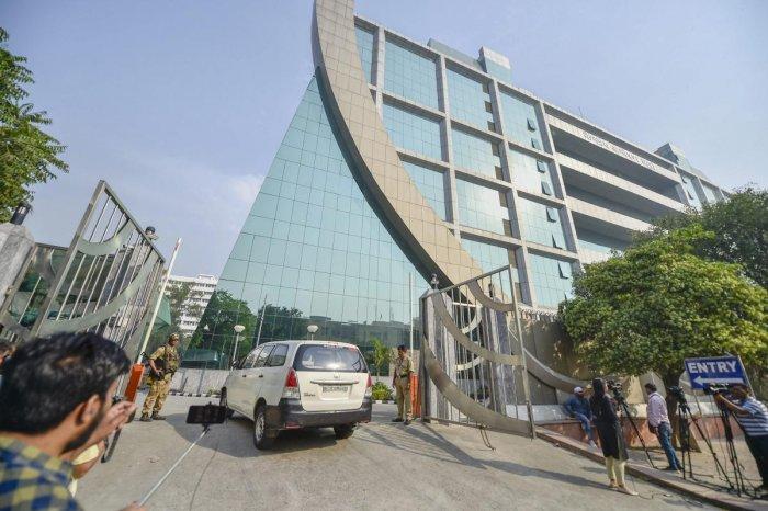 An outside view of CBI headquarters, in New Delhi. (PTI Photo)