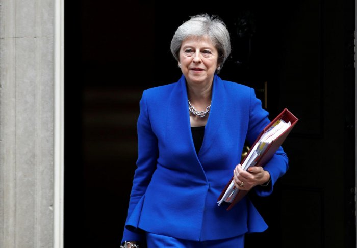 Briatin's Prime Minister Theresa May leaves 10 Downing Street in London. (Reuters photo)