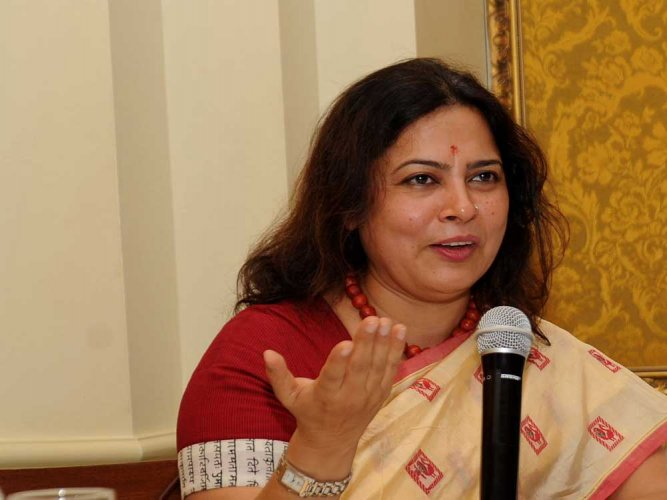 MP and Supreme Court Advocate Meenakshi Lekhi. DH File Photo