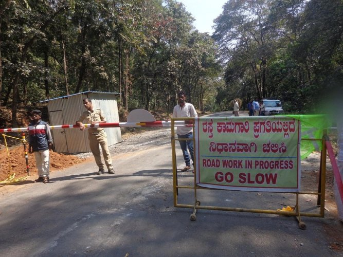 All pending road works will be completed in about a week. DH Photo