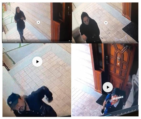 A CCTV grab of the five suspected foreign nationals