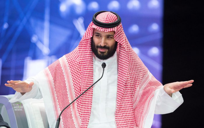 Saudi Crown Prince Mohammed bin Salman speaks during the Future Investment Initiative Forum in Riyadh on October 24, 2018. Reuters