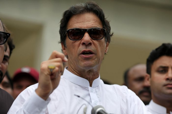 Imran Khan said the country has no future until and unless corruption is rooted out. Reuters photo.