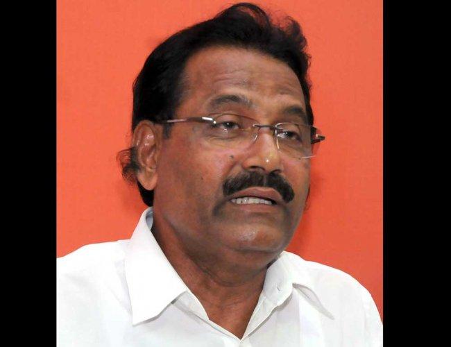 Former minister Krishna J Palemar. File Photo