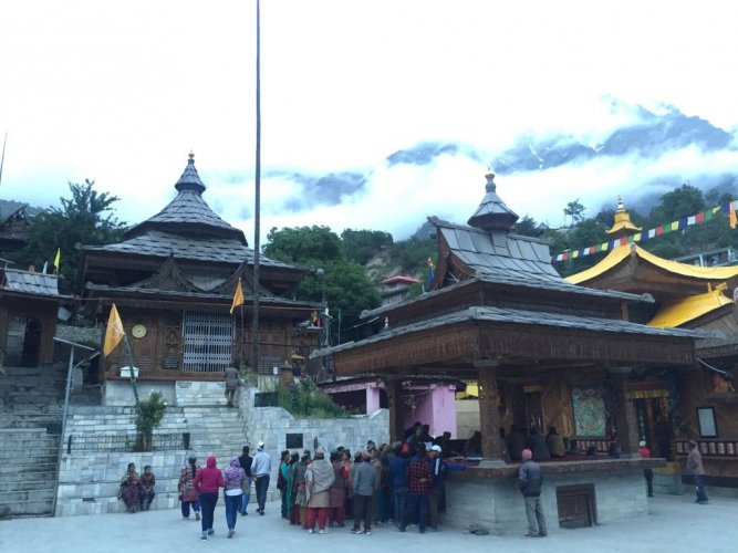 Residents of village Sangla in Kinnaur in Himachal Pradesh flock the village temple to seek a loan from the temple.