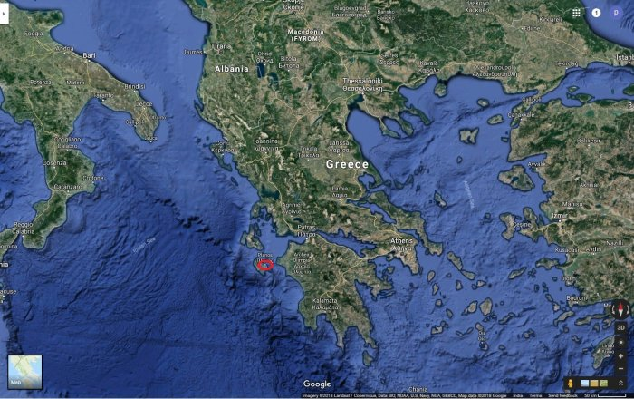 A strong earthquake has shaken the Greek tourist island of Zakynthos in the Ionian Sea.