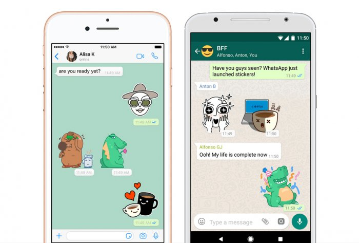 Users can use the stickers by downloading the beta version of WhatsApp on Android and iOS platforms. (Image courtesy TechCrunch)