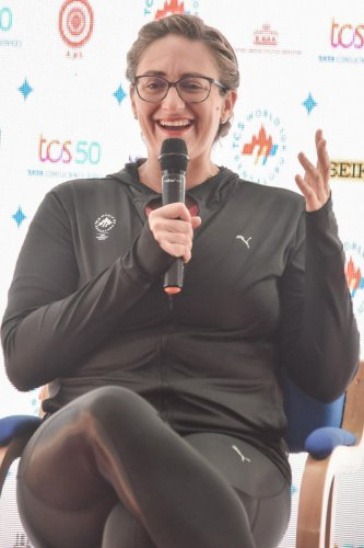 CHAMP IN TOWN: Mary Pierce says Serena Williams is one of fiercest competitors she has ever seen. DH PHOTO/ SK DINESH