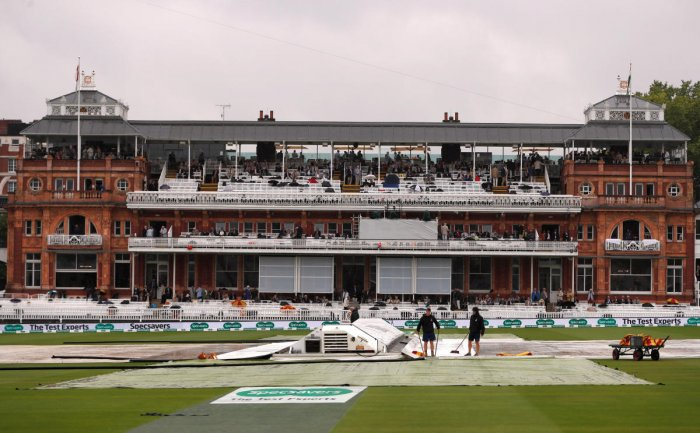 A view of the Lord's ground as rain hits play. Reuters