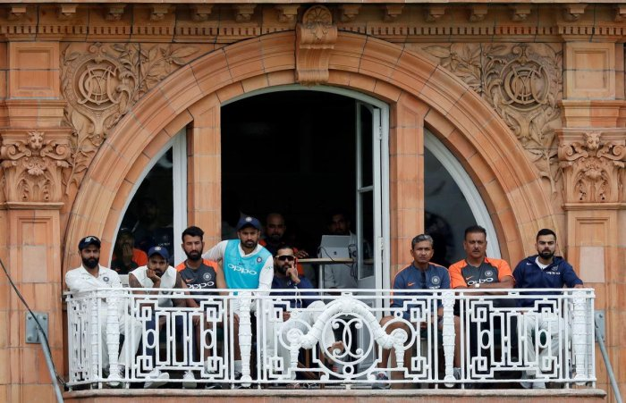 The glum faces of Indian players and team's support staff provide perfect background for their gloomy situation in England at the moment. AFP