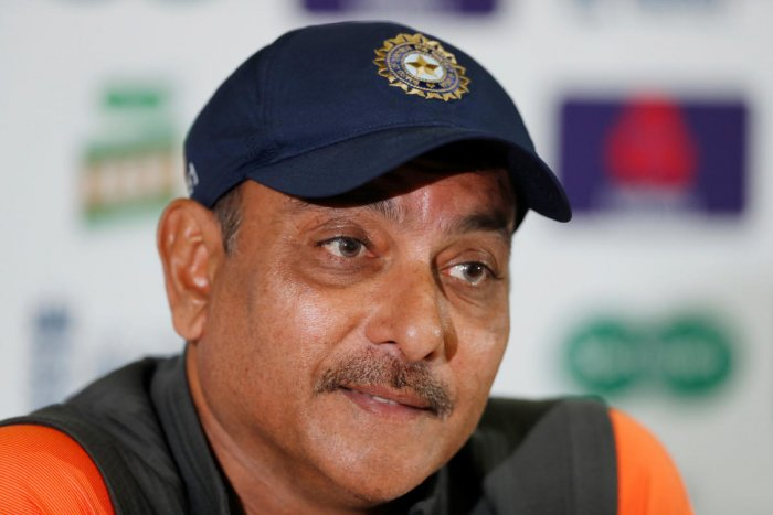 India head coach Ravi Shastri during a press conference in London on Wednesday. REUTERS