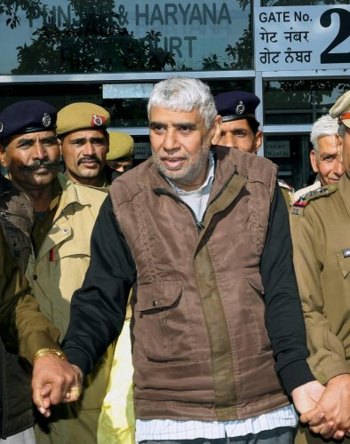 Self-proclaimed godman Rampal and 26 of his followers were charged with murder and wrongful confinement after four women and a child were found dead in his Satlok Ashram in Barwala town in Hisar. (PTI File photo)