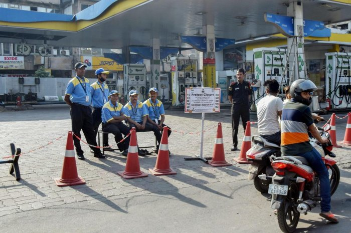 Petrol price has been cut by nearly Rs 2 per litre and diesel by Re 1 a litre in the last eight days on the back of softer international rates, an official statement said Friday. PTI file photo