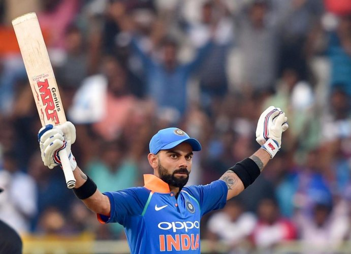 India skipper Virat Kohli became the fastest batsman to 10,000 ODI runs during the course of his century against West Indies in Visakhapatnam on Wednesday. PTI
