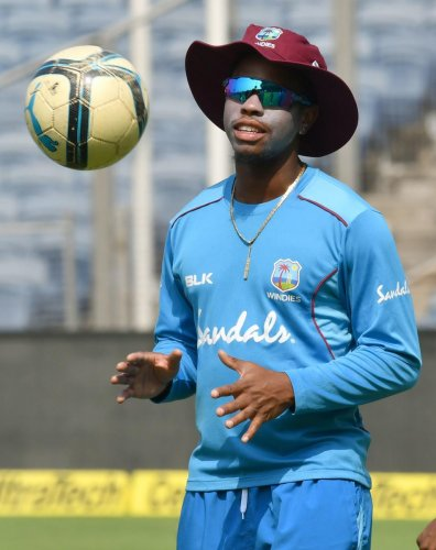 IN SUPERB TOUCH: India bowlers will be hoping to get the better of West Indies' Shimron Hetmyer, who has been in cracking form, in the third ODI on Saturday. AFP