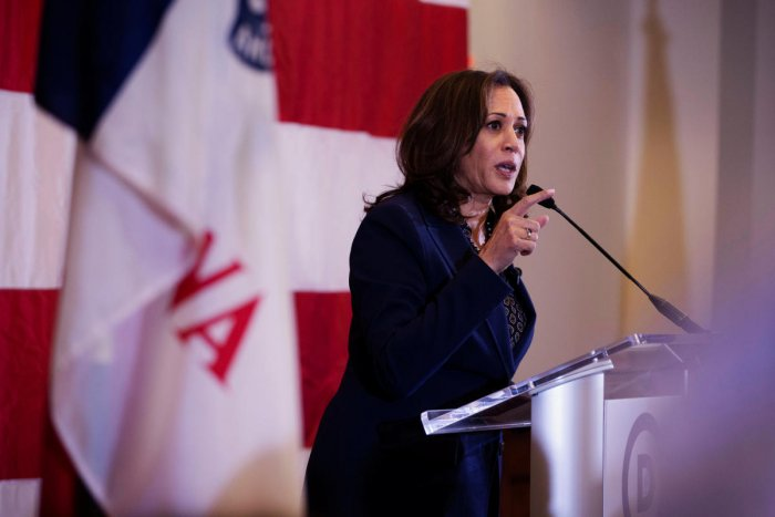 Kamala, a rising star in the opposition Democratic Party and a potential presidential candidate, is the first Indian-origin US Senator. (Reuters file photo)