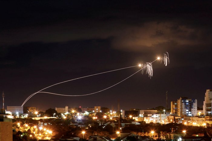 Iron Dome anti-missile system fires interception missiles as rockets are launched from Gaza towards Israel as seen from the city of Ashkelon, Israel October 27, 2018. Picture taken with long exposure. (REUTERS)