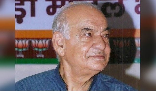 BJP leader Madan Lal Khurana was the chief minister of Delhi from 1993 to 1996. (Photo via FB)
