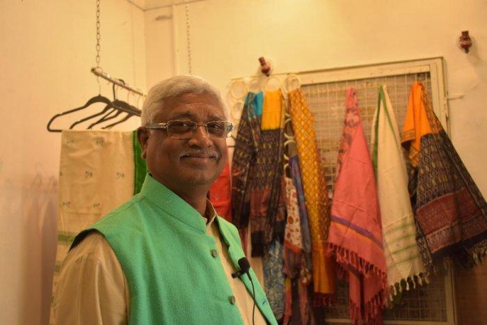 Kusuma Rajaiah follows the Gandhian principle of non-violence in his work.