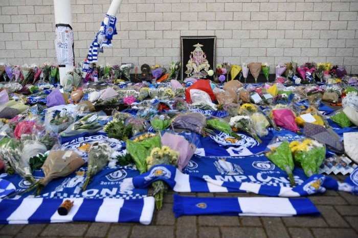 TRAGIC Fans pay tribute outside the King Power Stadium after Leicester City  owner Vichai Srivaddhanaprabha was 383d93735