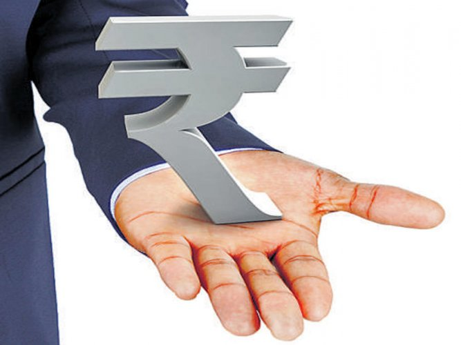 The rupee opened up at 73.33 to quote 14 paise higher over its previous closing.