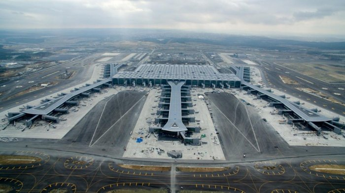 The airport is being built in the Arnavutkoy district on the European side of Istanbul. (AFP File Photo)