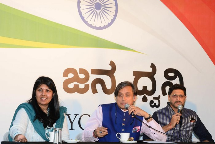 Congress MP Shashi Tharoor on Sunday said there is a challenge for the government when choosing between democracy and environment.