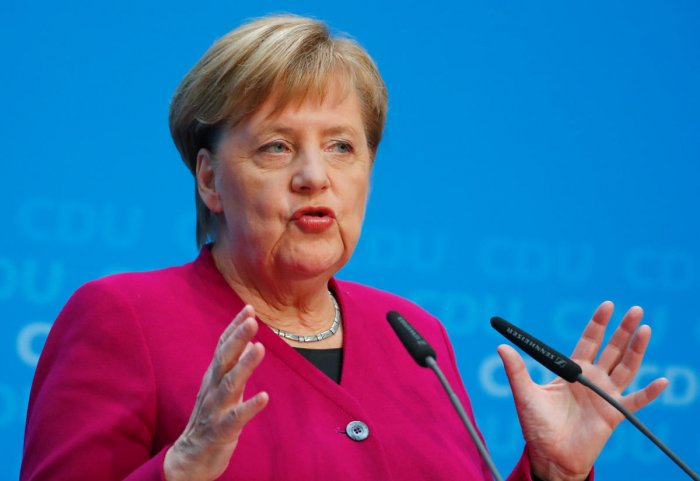 Merkel had earlier informed her centre-right Christian Democrats (CDU) that she would not stand again to be the party chairman at a congress in December to make way for new leadership. (Reuters Photo)