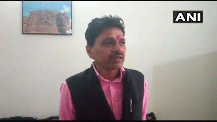 Rajasthan minister of state for Panchayati Raj and Rural Development Dhan Singh Rawat. (Image courtesy ANI/Twitter)