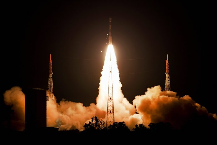 The Cabinet decision is expected to enable Isro to launch heavier four-tonne satellites using the GSLV Mark III rocket from the launch port at Sriharikota and also offer the facility to put foreign satellites in orbit. PTI file photo