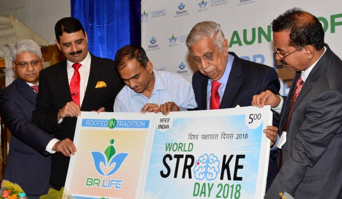 Justice M N Venkatachaliah, former Chief Justice of India, and Dr Charles Lobo, chief postmaster general of Karnataka circle, released the stamp.