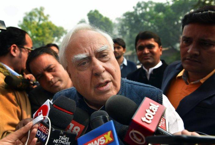 Senior Congress MP Kapil Sibal. (PTI File Photo)
