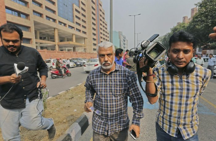"""CBI Deputy SP A K Bassi outside CBI headquaters, in New Delhi, Wednesday, Oct 24, 2018. Bassi has been shunted to Port Blair in """"public interest"""" with """"immediate effect"""". (PTI Photo)"""