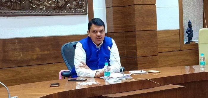 Devendra Fadnavis during the DH interview. DH PHOTO