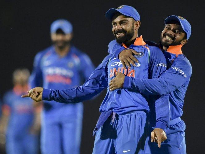 Indian skipper Virat Kohli (left) was pleased with Ambati Rayudu's consistency. PTI