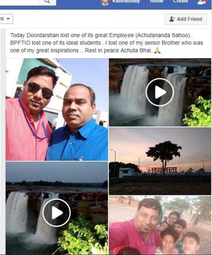 Achutananda Sahoo with his last clicks.